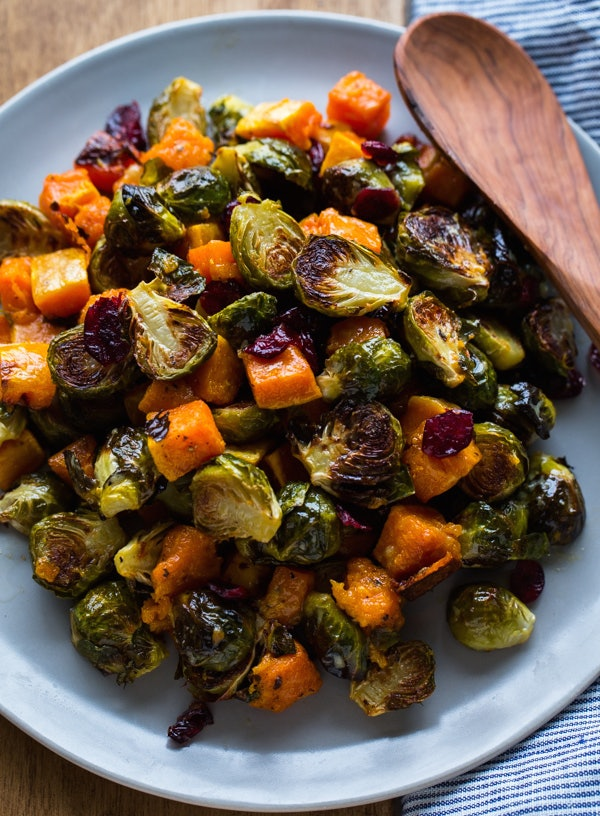 Butternut Squash, Brussels Sprout, and Bread Stuffing with Apples Butternut Squash, Brussels Sprout, and Bread Stuffing with Apples new picture