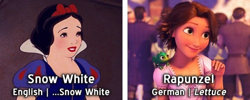 Disney Princess Names Mean Completely Different Things When Translated