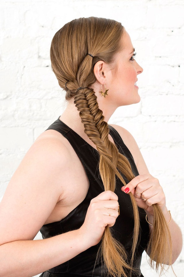 Use A Small Elastic To Tie Those Two Ponytails Together And Another All Of Your Hair Into One Ponytail