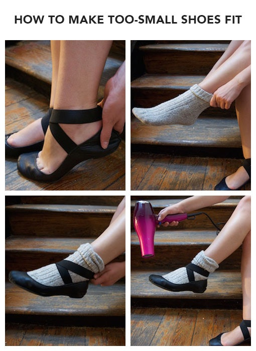 No Blisters Here How To Make A Too Small Shoe Fit In Just 4 Easy