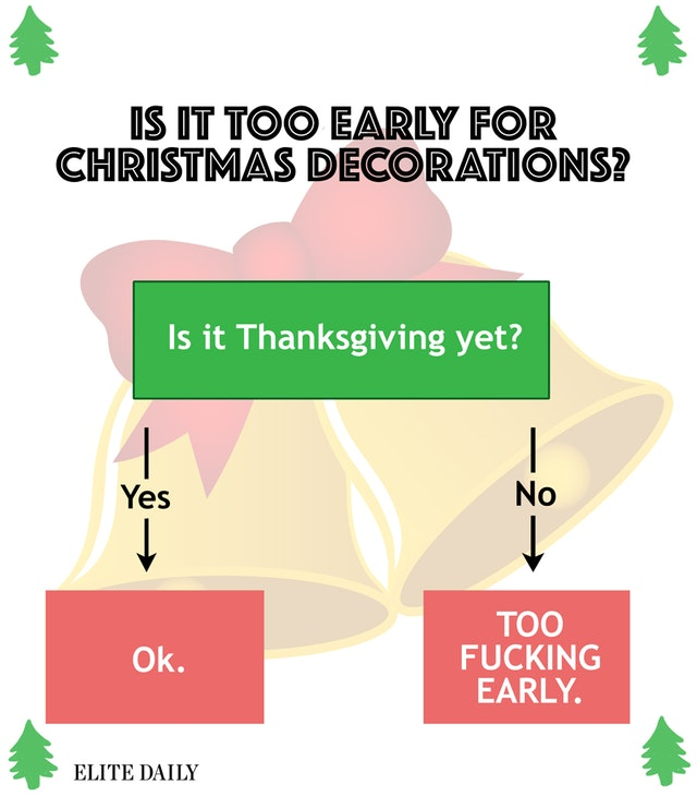 Too Early To Put Up Christmas Decorations