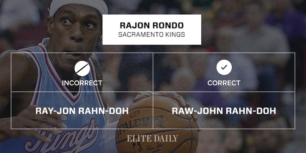 NBA 20 Names Been Completely Pronouncing You
