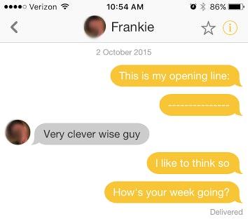 Best opening line for online hookup