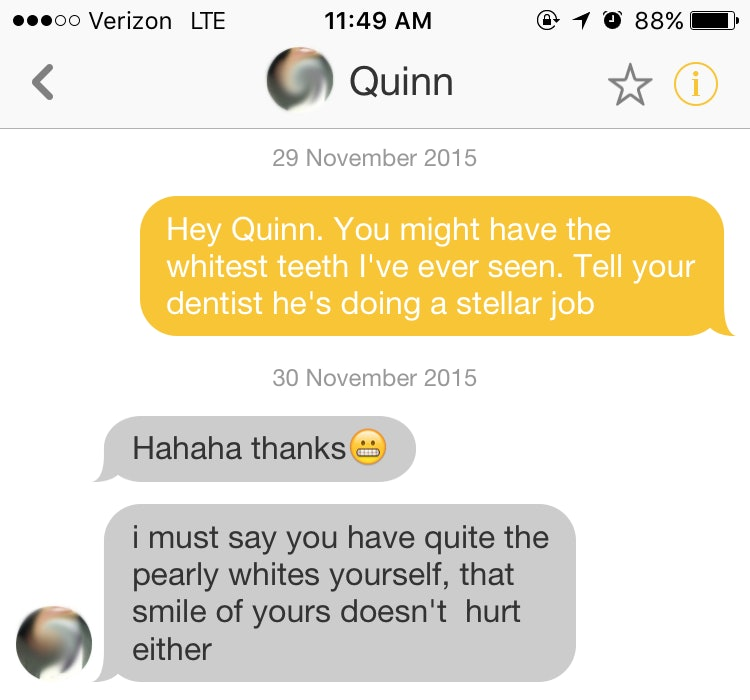 What a good pickup line for online dating