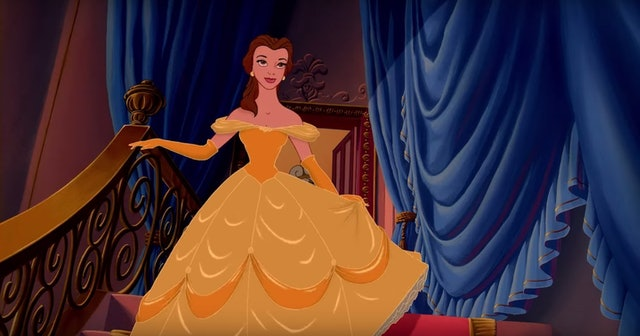 And The Animated Yellow Flowing Dress Belle Wore In 1991 Film Beauty Beast