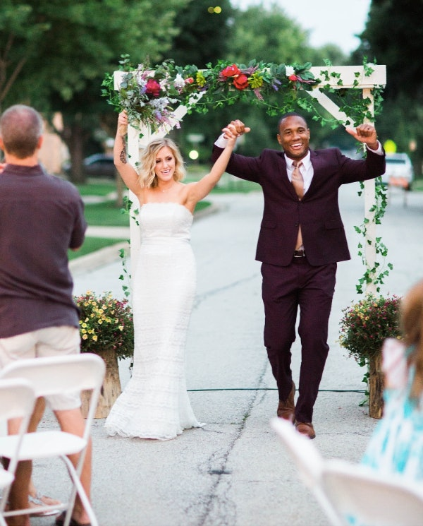 High School Sweetheart Wedding: High School Sweethearts Get Epic Block Party Wedding