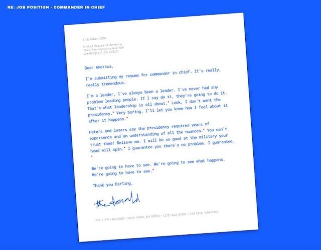 hirethedonaldcom - Donald Trump Resume