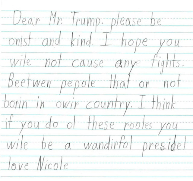 First Graders' Letters To Donald Trump Are Scarily Wise