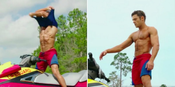 Zac Efron's Abs Are Unreal In New 'Baywatch' Trailer