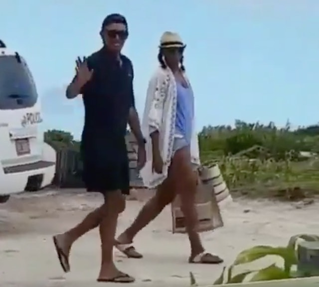 Barack And Michelle Obama Look Happy At Necker Island