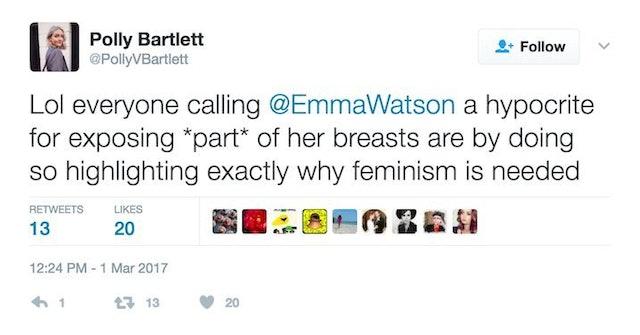 Emma Watson's Underboob Sparks Online Outrage