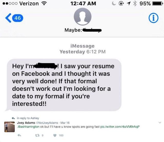 Most impressive dating resumes