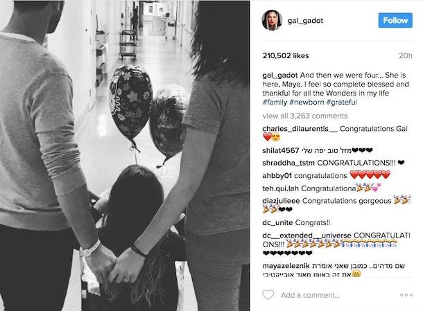 'Wonder Woman' Gal Gadot Gave Birth To A Baby Girl