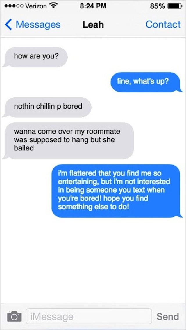 Online dating break up text