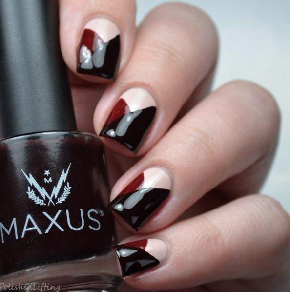 Orange Black Halloween Nails Scary. Black And White Nail Art Designs ...