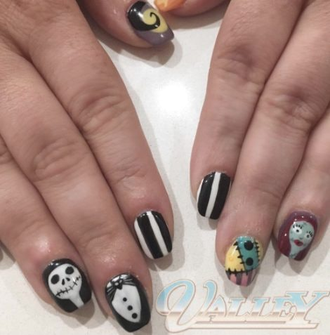 Halloween nail art ideas tips for pulling off a scary good manicure 12 nightmare before christmas prinsesfo Gallery