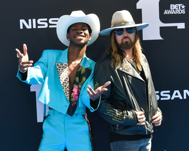 Lil Nas X and Billy Ray Cyrus stagecoach