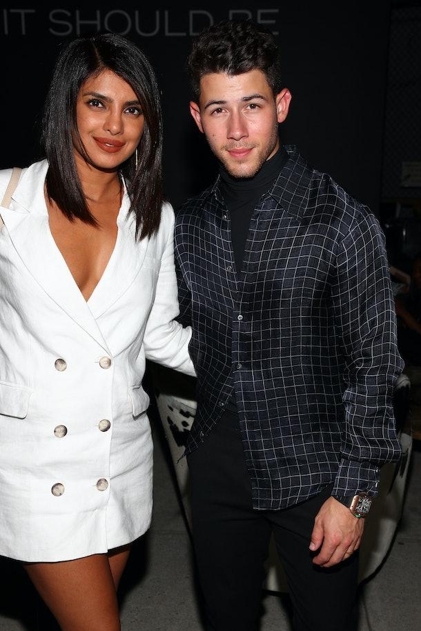 Nick Jonas & Priyanka Chopra at party for Jonas' tequila collaboration with John Varvatos