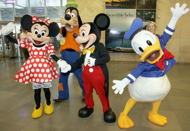 Minnie Mouse, Goofy, Mickey Mouse, and Donald Duck all together would make a great Disney group costume.
