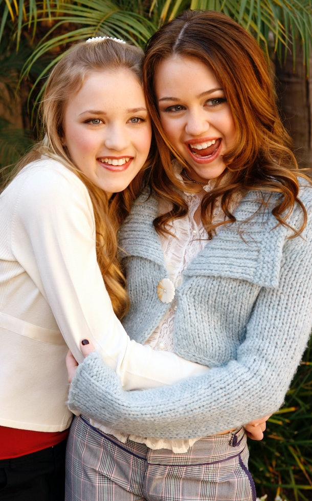 Miley Cyrus and Emily Osment played best friends on 'Hannah Montana.'