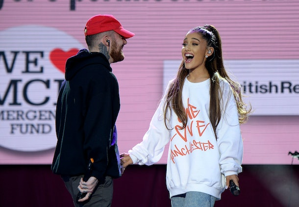 Ariana Grande and Mac Miller at One Manchester benefit concert