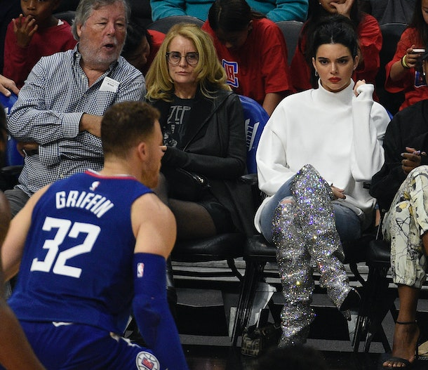 Kendall Jenner watching Blake Griffin play basketball