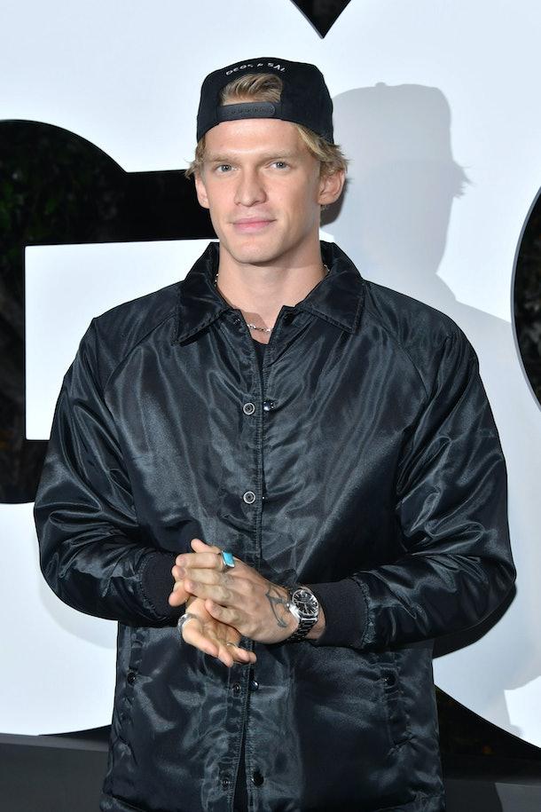 Cody Simpson rocks an all-black ensemble.