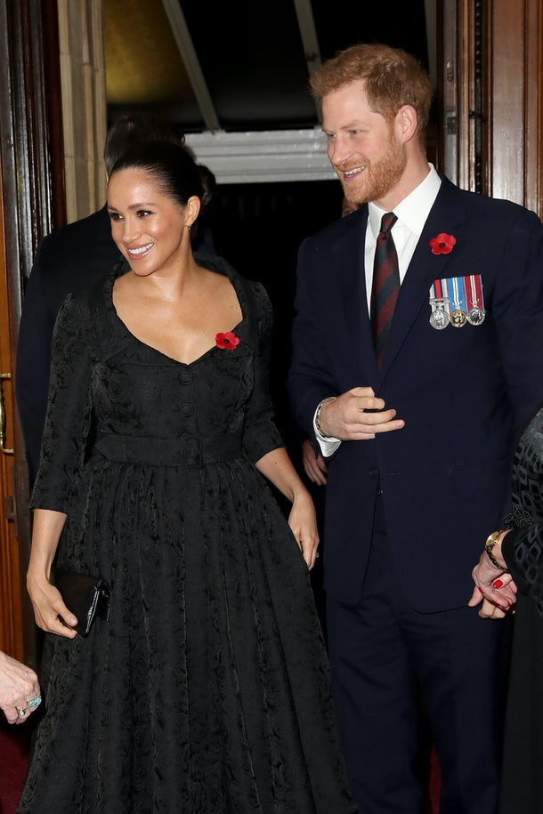 Meghan Markle and Prince Harry smile for a snapshot.