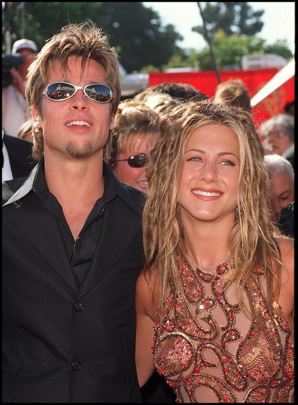 Brad Pitt and Jennifer Aniston red carpet debut emmys 1999