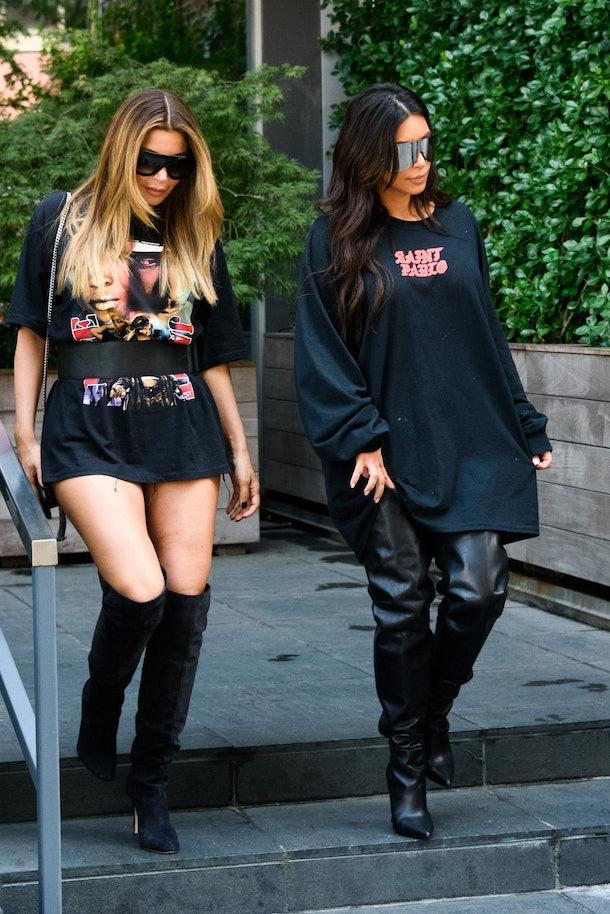 Kim Kardashian steps out with Larsa Pippen.