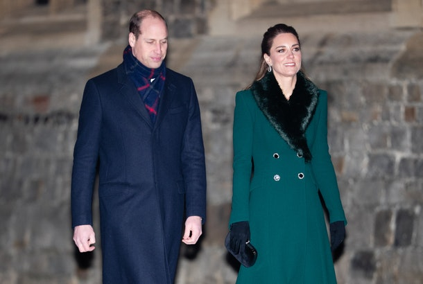 Prince William and Kate Middleton take a stroll.