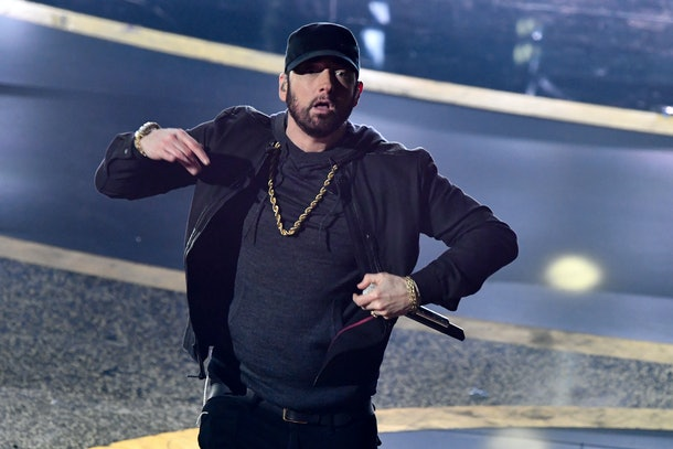 Eminem performed at the 2020 Oscars