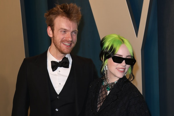 Billie Eilish and her brother Finneas arrive on the red carpet.