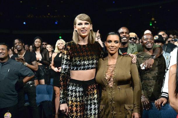 Taylor Swift and Kim Kardashian at the VMAs.