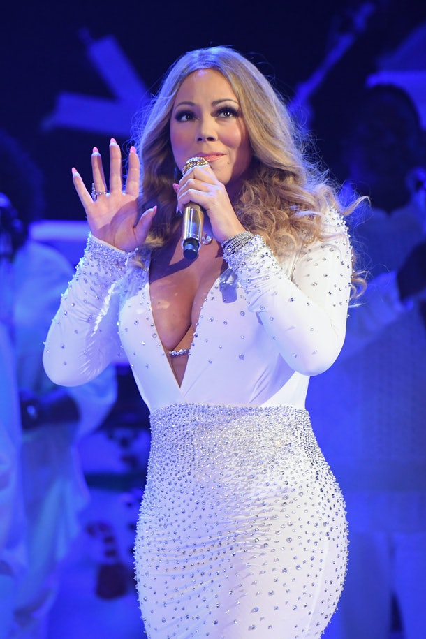 Mariah Carey performs live in concert.