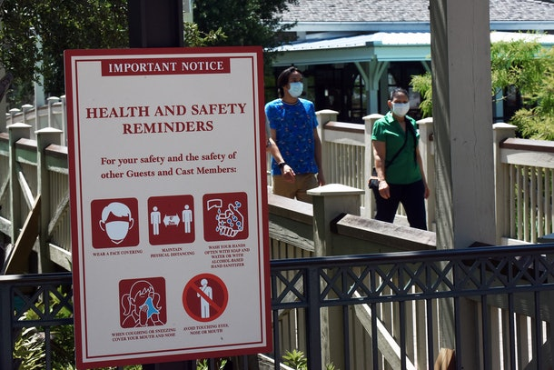 Disney World could reopen after its coronavirus closure with some precautionary measures in place.