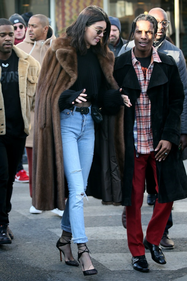 A$AP Rocky & Kendall Jenner hanging out