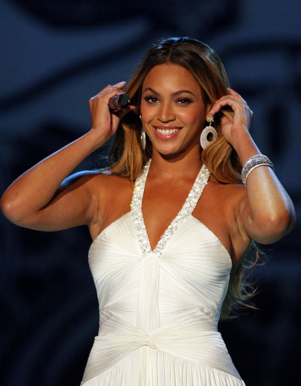 Beyonce hits the stage for a concert.