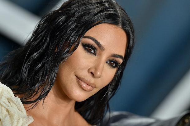 Kim Kardashian attends the 2020 Oscars.