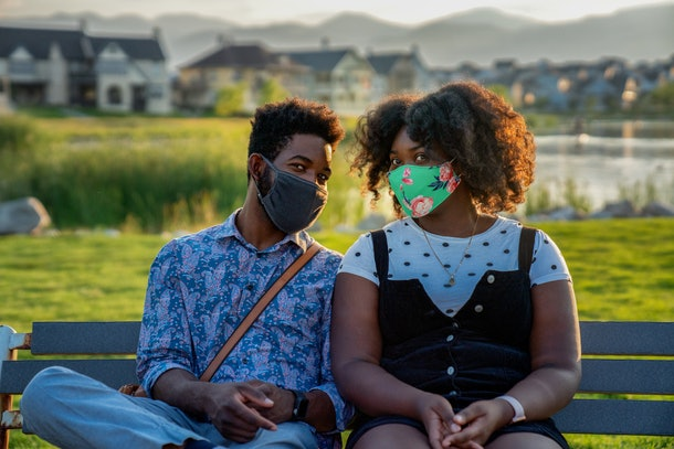 Here are some Instagram captions for photos with your partner in masks.