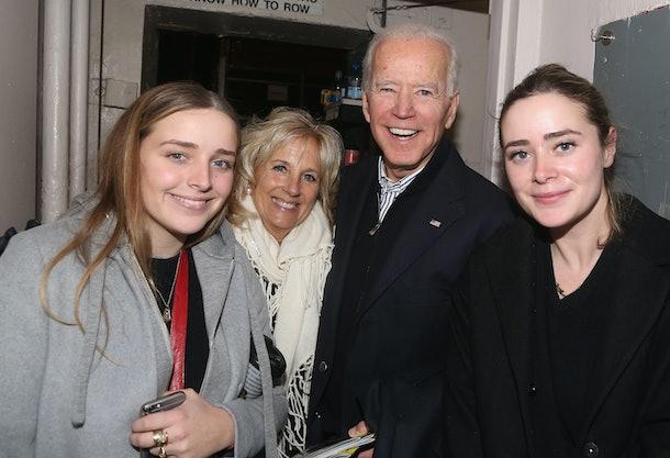 Joe Biden with granddaughters Finnegan and Naomi.