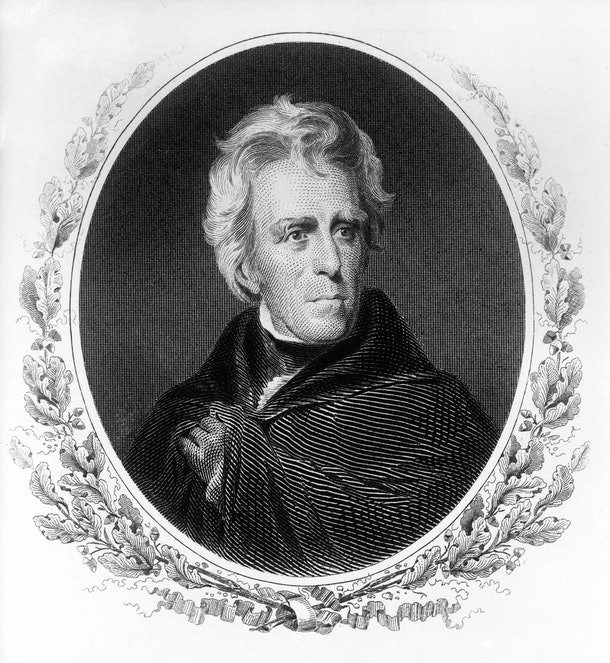 Andrew Jackson was inaugurated in 1829.
