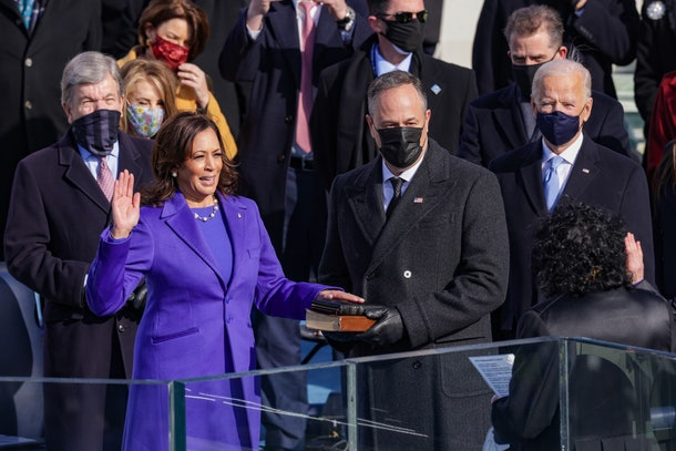 Kamala Harris took the oath of office for the vice presidency on Jan. 20, 2021.