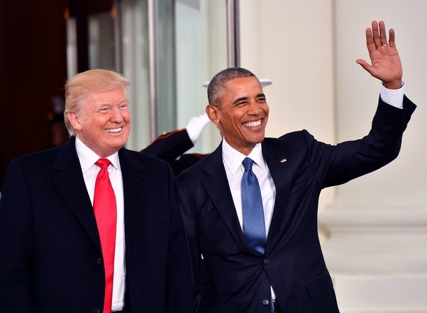 Obama greeted Trump at the White House on Inauguration Day in 2017.