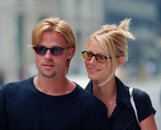 Brad Pitt steps out with Gwyneth Paltrow.