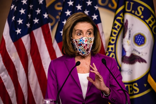 Nancy Pelosi opened the door to impeachment during her remarks on Jan. 7.