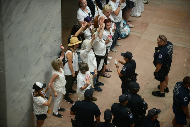 575 people were arrested at protest against ICE and the zero tolerance immigration policy on June 28, 2018.