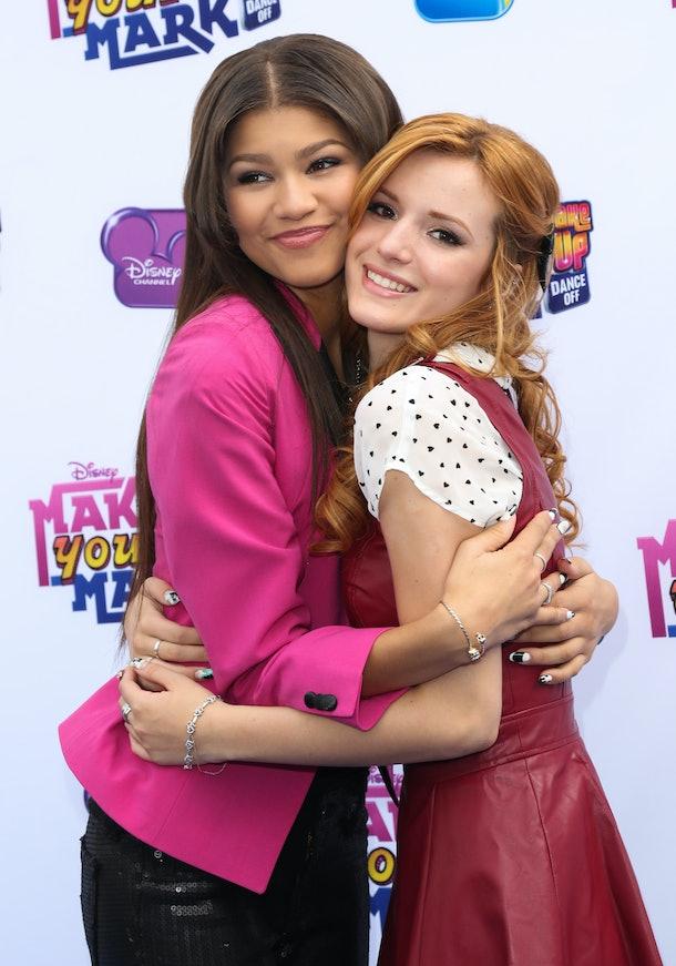 'Shake It Up' co-stars Bella Thorne and Zendaya hug it out.