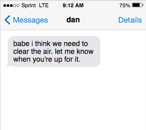 Romantic things to say to your boyfriend when hes mad at you