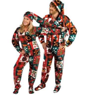 4ugly christmas sweater onesies